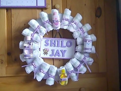 Baby Shower Diaper Wreath Youtube