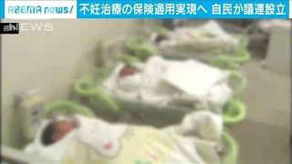 不妊治療の保険適用実現へ 少子化対応で自民が議連(20/06/16)