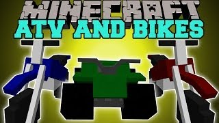 Minecraft: DIRT BIKES & ATV (EPIC NEW TRAVEL METHODS!) Mod Showcase