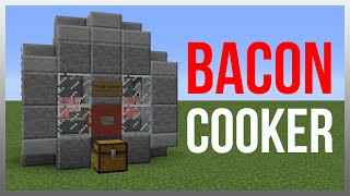 Minecraft 1.12: Redstone Tutorial - Pig Cooker!