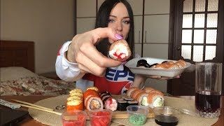 MUKBANG | Суши, роллы лучшие в Абакане? | Суши Абакана Sushi rolls | не ASMR