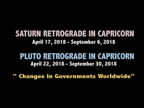 SATURN & PLUTO IN RETROGRADE in CAPRICORN April 2018 - September 2018