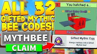 32 SECRET FREE GIḞTED MYTHIC BEE EGG CODES IN BEE SWARM SIMULATOR! Roblox