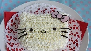 How to make Hello Kitty Cake(3Dキティちゃんケーキ)