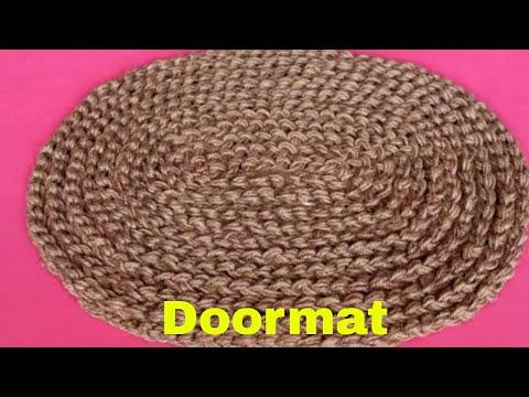 Easy and Fast Doormat Making at Home Using Jute    Jute Craft Idea    Handmade Doormat    DIY Craft