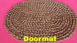 Easy and Fast Doormat Making at Home Using Jute || Jute Craft Idea || Handmade Doormat || DIY Craft