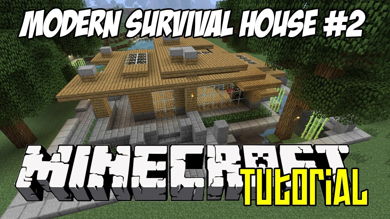 Minecraft Tutorial HD Modern Survival House 2 YouTube