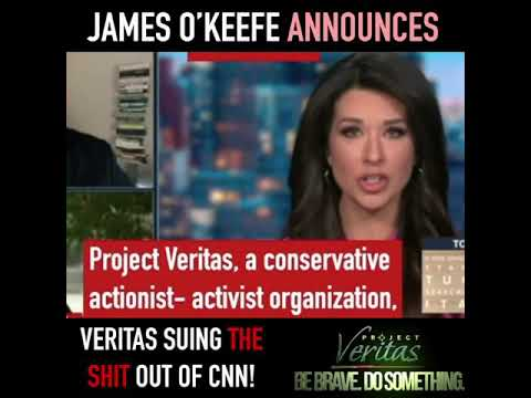 James O'Keefe Announces That Project Veritas Intends To Sue CNN!