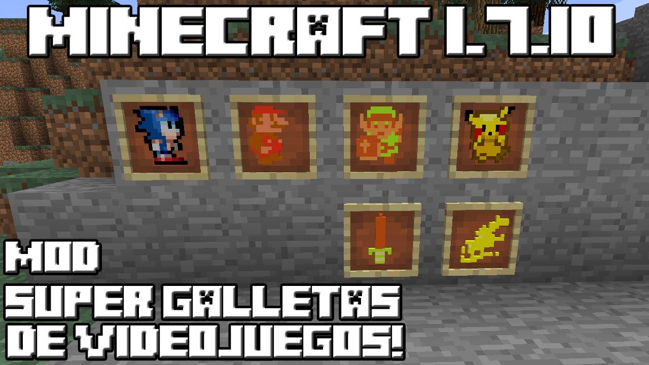 Minecraft 110 Videojuegos: Minecraft 1.7.10 MOD SUPER GALLETAS DE VIDEOJUEGOS!
