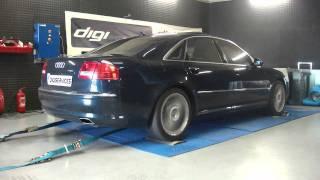 Reprogrammation Moteur Audi A8 W12 @ 431cv dyno digiservices Paris