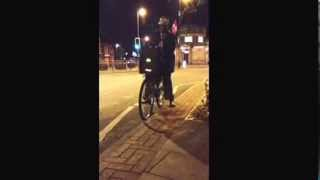 Moss side   With a jamming bike with bass speakers