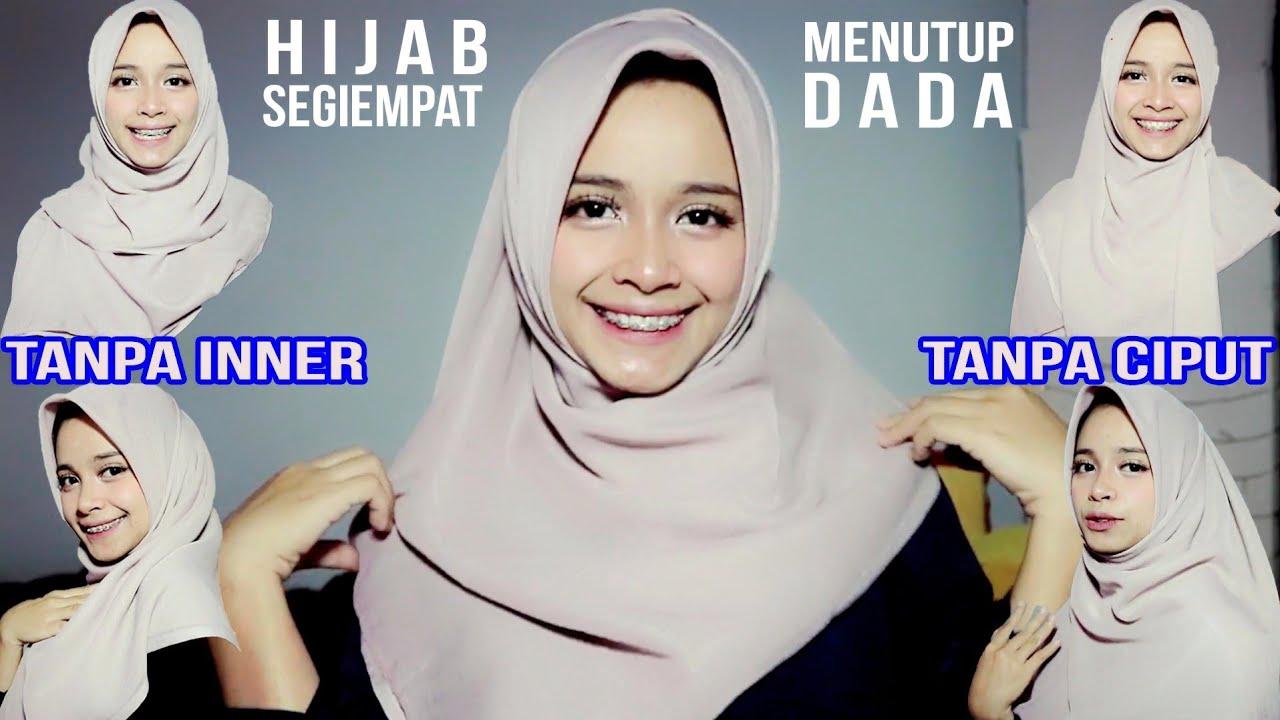 5 Tutorial Hijab Segiempat Menutup Dada Tanpa Inner Ninja Dan Ciput Youtube