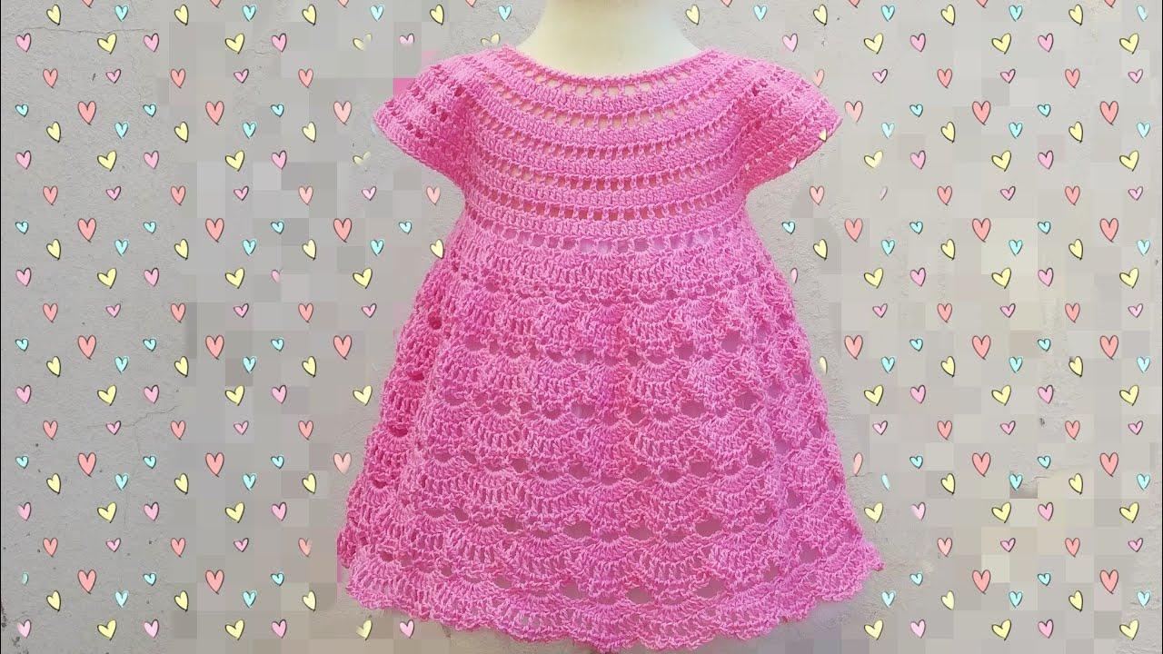 Vestido De Niña A Crochet Majovel Muy Fácil Y Rápido Crochet Ganchillo