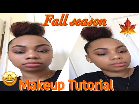 Hot Girl Fall Makeup Tutorial 🖤🍁 #77k thumbnail
