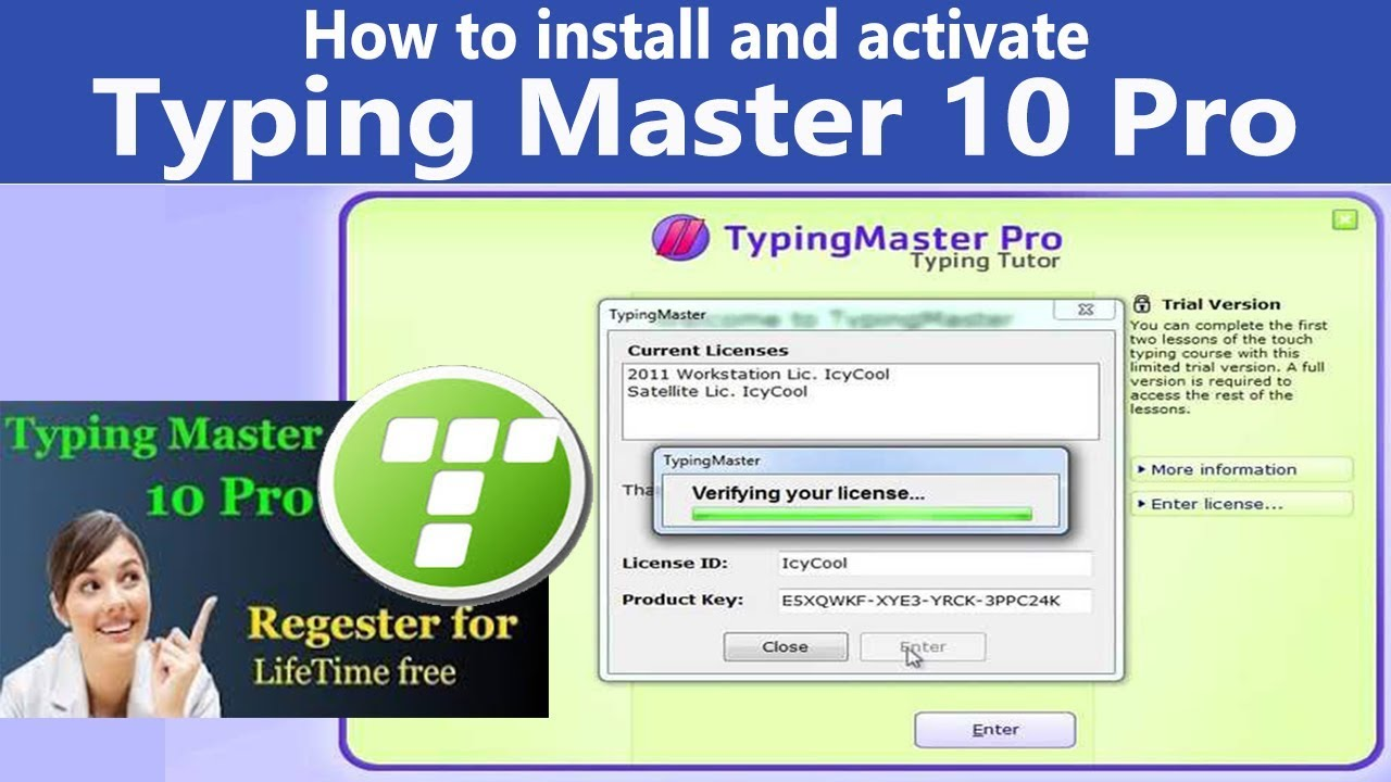 How to install and activate Typing Master 10 Pro - YouTube