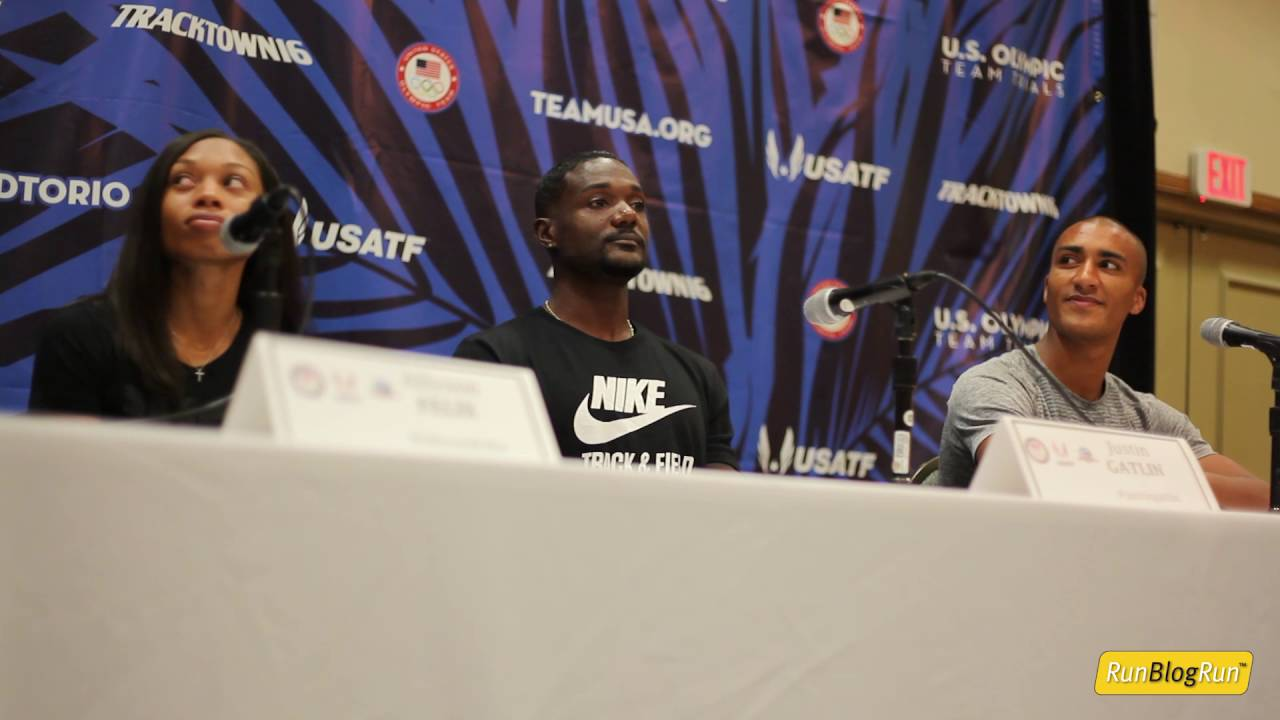 Justin Gatlin @ 2016 Olympic Trials Press Conference