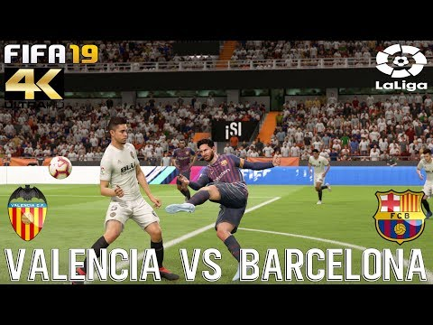 FIFA 19 (PC) Valencia vs Barcelona | REALISTIC LA LIGA PREDICTION | 7/10/2018 | 4K 60FPS