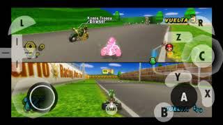 Mario Kart Wii 2 players speed test on Dolphin Emulator on Samsung Galaxy S7 Edge
