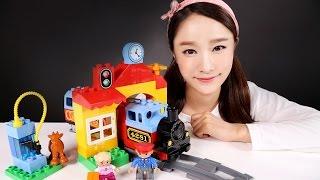 캐리의 레고 듀플로 나의 첫 기차 세트 장난감 놀이 CarrieAndToys