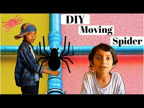 DIY moving paper spider | Halloween craft