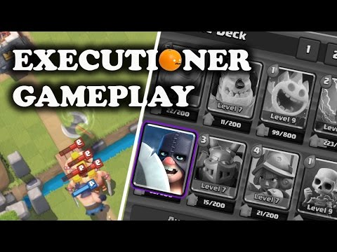 Executioner Boomeraxe! | First Gameplay | Clash Royale