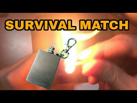 Emergency Fire Starter Flint Match Lighter Metal Outdoor
