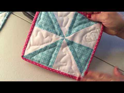 How to Sew Binding on a Potholder