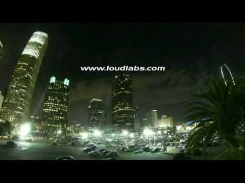Downtown Los Angeles City & Cloud Time Lapse