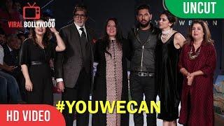 Uncut Ywc Fashion Show 2016 #youwecan Cancer Foundation  Deepika, Amitabh, Kajol, Yuvraj, Gayle,