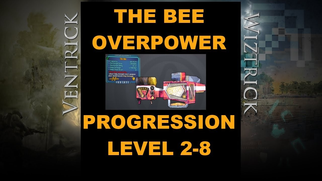 bl2 progression of the bee shield from overpower level 2 to 8
