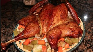Soul Food  Smoked Grilled Turkey  Spatchcocked Turkey  Interracial CoupleFamily Life  Vlog  33