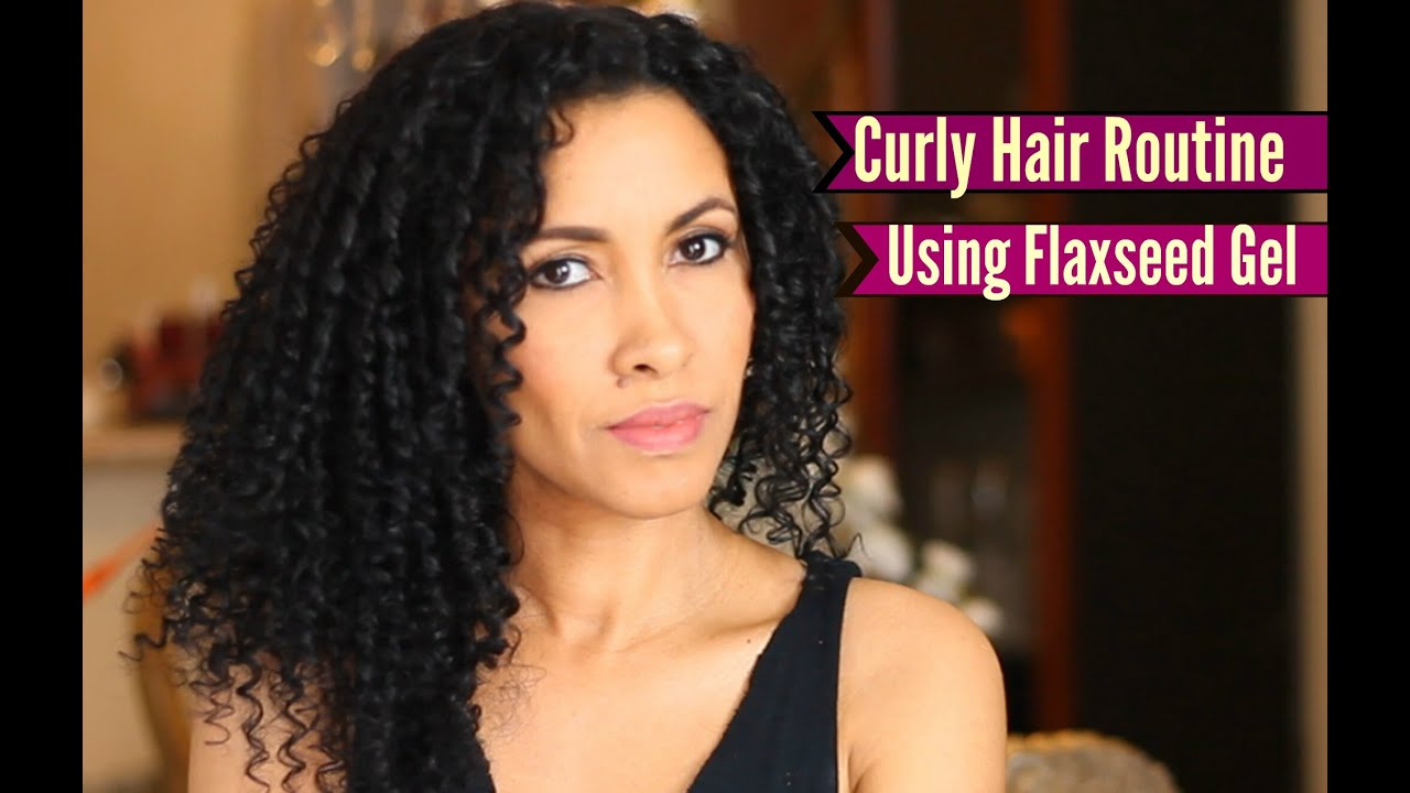 how to use hair styling gel curly hair routine using flaxseed gel 9341 | maxresdefault