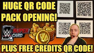 BIG QR CODE PACK OPENING + FREE CREDITS QR CODE AND VALENTINE STUFF! Noology WWE SuperCard Season 5!