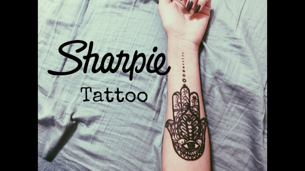Sharpie Tattoo Time Lapse Hamsa