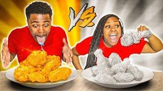 gold-vs-silver-food-challenge-vlogmas-day-14
