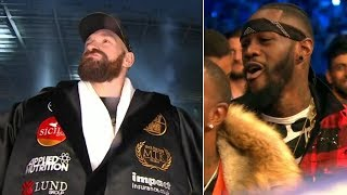 Deontay Wilder reacts hilariously to Tyson Fury's epic ring walk
