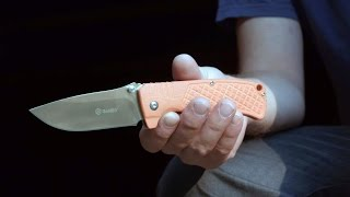 Ganzo 722 Pocket Knife Review and Abuse Test- Chopping a Bush.