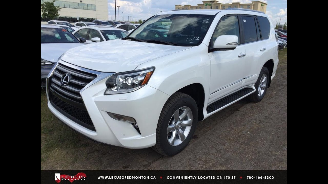 new white 2015 lexus gx 460 4wd standard equipment package review east edmonton youtube. Black Bedroom Furniture Sets. Home Design Ideas
