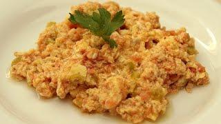 Turkish Menemen Recipe - Egg and Tomato Recipe