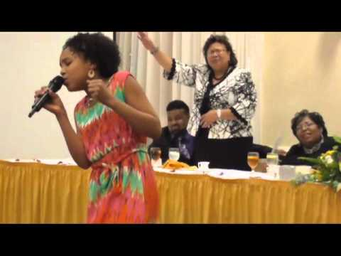 "11 yr/old Jayna sings ""Take Me to the King"" Tamela Mann"