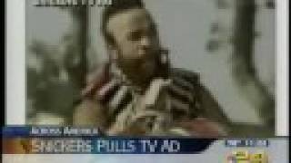mr t snickers ad sports anchor cracks up