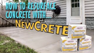 How to resurface your concrete with Rapid Set NewCrete Resurfacer