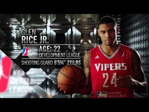 Sixers select Glen Rice, Jr. 35th overall from the NBA D-League!