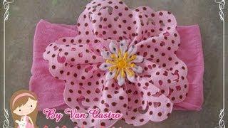 Passo a passo faixa meia de seda – passo a passo flor tecido por Vanessa Castro