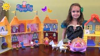 Peppa Pig: Princess Peppa's NEW Palace Story with Princess Peppa and Princess Peppa Castle Toy Set