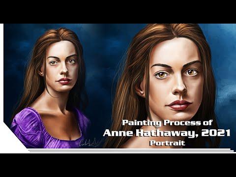 Anne Hathaway's Portrait Painting Process