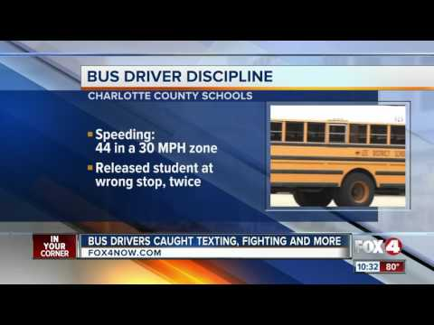 Bus driver discipline in Lee County, Charlotte County, Collier County