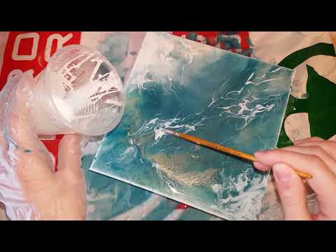 Epoxy resin + oil paintings on canvas   SPEED PAINTING