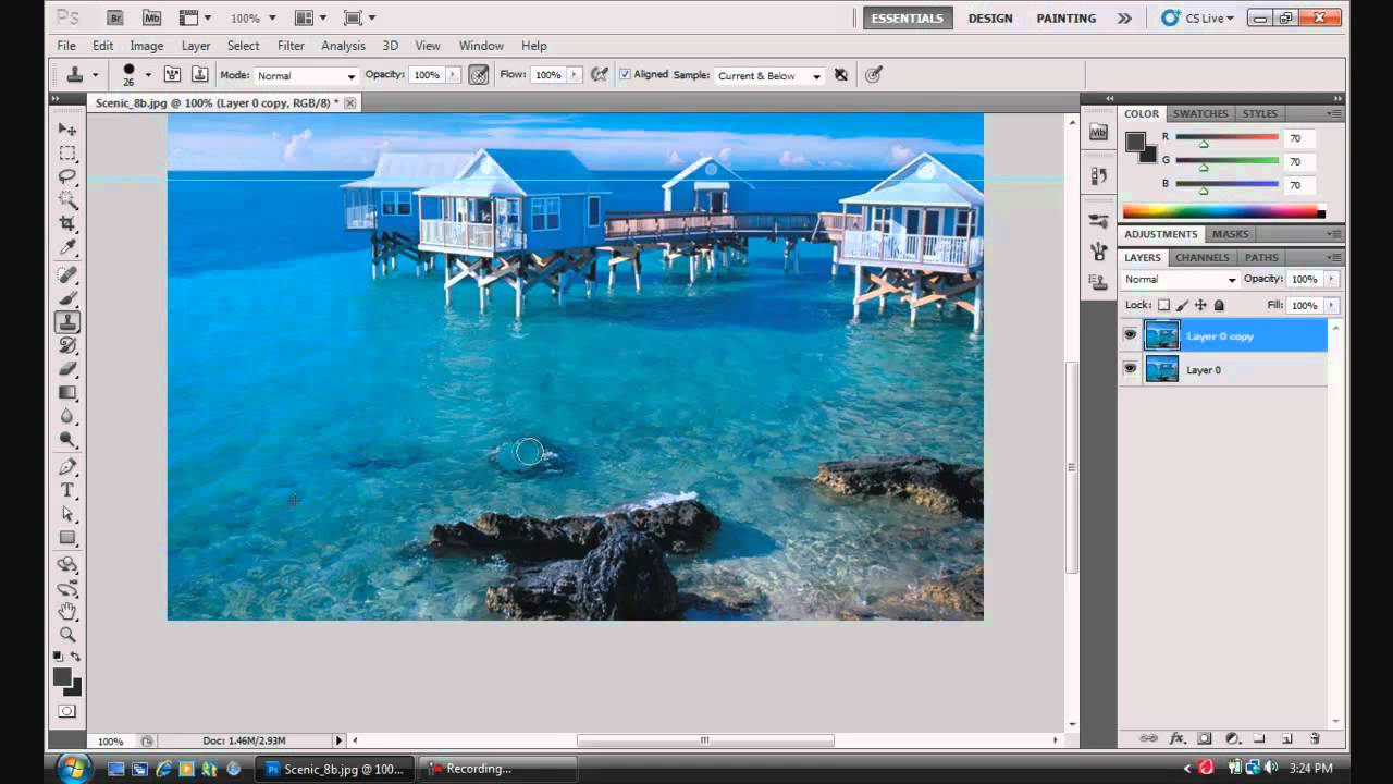 Photoshop cs5 tutorialsbeginners clone stamp tool youtube baditri Images