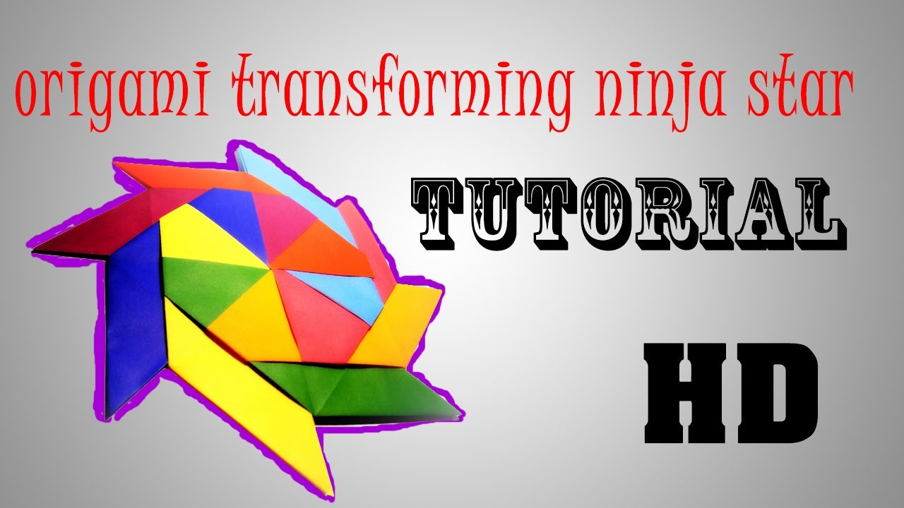 origami transforming ninja star tutorial - YouTube - photo#4